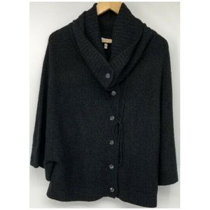 Joie Womens Sweater Cashmere Black Small Buttoned
